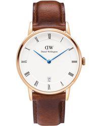 Daniel Wellington - Dw00100091 Women's Dapper St. Mawes Leather Strap Watch - Lyst