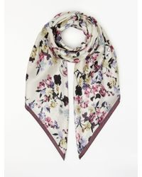 Modern Rarity - Mini Confetti Floral Print Silk Scarf - Lyst