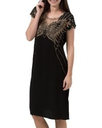 Sugarhill - Butterfly Embroidered Dress - Lyst