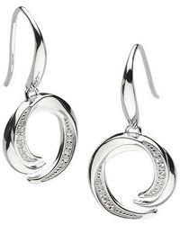 Kit Heath - Twist Cubic Zirconia Drop Earrings - Lyst