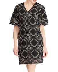 Lauren by Ralph Lauren - Elbow Sleeve Casual Dress - Lyst