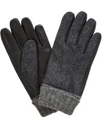 John Lewis - Wool Leather Gloves - Lyst