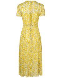L.K.Bennett - Silk Karo Daisies Print Dress - Lyst