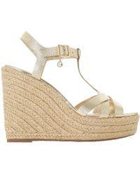 Dune - Kaylaa T-bar Wedged High Heel Sandals - Lyst