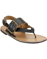 Modern Rarity - Mona Toe Post Buckle Sandals - Lyst