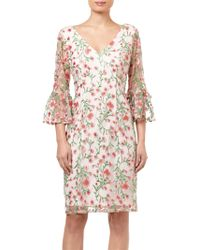 Adrianna Papell - Floral Vines Dress - Lyst