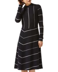 Jigsaw - Diagonal Cut Stripe Dress - Lyst