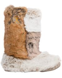Bedroom Athletics - Florence Faux Fur Slipper Boots - Lyst