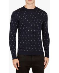 Ted Baker - Talkoo Crew Neck Jumper - Lyst