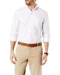 Dockers - Stretch Long Sleeve Oxford Shirt - Lyst