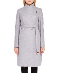 Ted Baker | Khera Wool Cashmere Blend Wrap Coat | Lyst