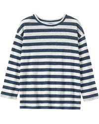 Toast - Long Sleeve Stripe Linen T-shirt - Lyst