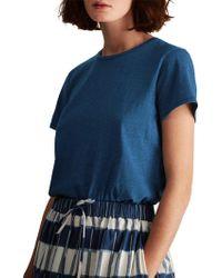 Toast - Washed Slubby Cotton T-shirt - Lyst