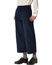 Toast - Cropped Corduroy Straight Leg Trousers - Lyst