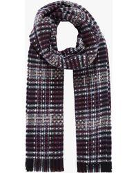 Brora - Textured Cashmere Stripe Stole Scarf - Lyst