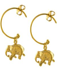 Alex Monroe - Indian Elephant Hoop Earrings - Lyst