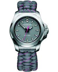 Victorinox - 241771 Women's I.n.o.x Date Fabric Paracord Strap Watch - Lyst
