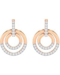 Swarovski - Circle Medium Crystal Drop Earrings - Lyst