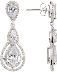 Ivory & Co. - Illuminate Triple Teardrop Cubic Zirconia Drop Earrings - Lyst