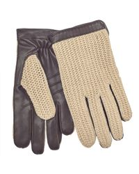 John Lewis - Crochet Back Wool Lined Leather Driving Gloves - Lyst