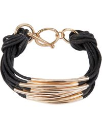 John Lewis - Multi Strand Tube Layered Bracelet - Lyst