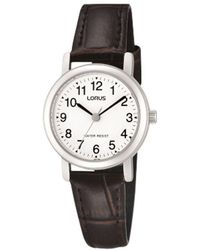 Lorus - Rrs57ux9 Women's Leather Strap Watch - Lyst