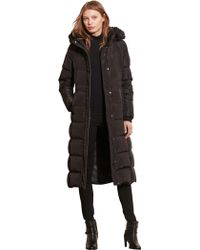 Lauren by Ralph Lauren - Maxi Hooded Down Coat - Lyst