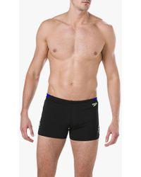 b726913384 Speedo Endurance Monogram Aquashort 27cm Trunk in Black for Men - Lyst