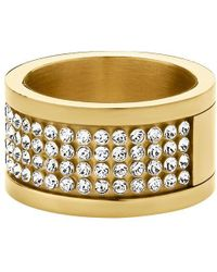 Dyrberg/Kern - Emily Crystal Band Ring - Lyst