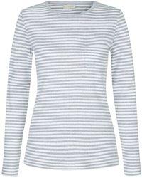 Hobbs - Pointelle Stripe Pyjama Top - Lyst