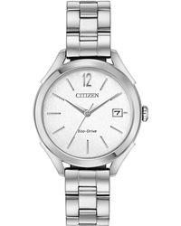 Citizen - Fe6140-54a Women's Stainless Steel Round Watch - Lyst
