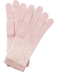 Pure Collection - Francesca Cashmere Fair Isle Gloves - Lyst