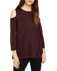 1d28c5b928f7d Phase Eight - Cassy Shimmer Cold Shoulder Top - Lyst