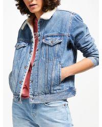 Levi's - Boyfriend Sherpa Trucker Jacket - Lyst