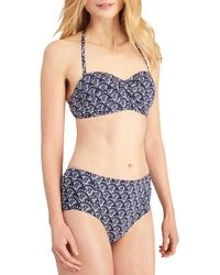 Joules - Delta Bandeau Shell Print Bikini Top - Lyst