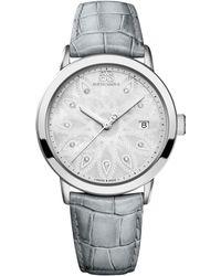 88 Rue Du Rhone - 87wa140018 Women's Double 8 Origin Mother Of Pearl Leather Strap Watch - Lyst