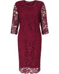 Gerry Weber   3/4 Sleeve Lace Dress   Lyst