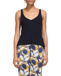 Whistles - Pleat Detail Knitted Cami - Lyst