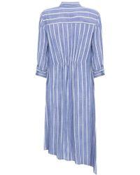 John Lewis - Mint Velvet Striped Knotted Shirt Dress - Lyst