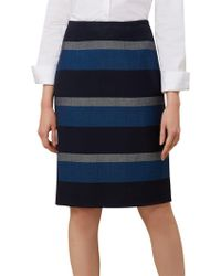 Hobbs - Nora Stripe Skirt - Lyst