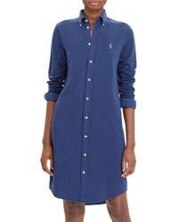 Ralph Lauren | Polo Long Sleeve Shirt Dress | Lyst