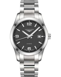 Longines - L27854566 Men's Conquest Classic Automatic Date Bracelet Strap Watch - Lyst