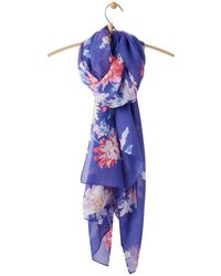 Joules - Wensley Whitstable Floral Print Scarf - Lyst