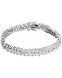 Ivory & Co. - Icon Marquise Cubic Zirconia Bracelet - Lyst