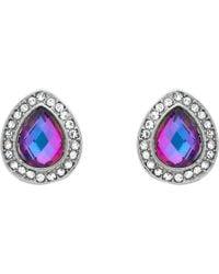 John Lewis - Monet Glass Crystal Teardrop Stud Earrings - Lyst
