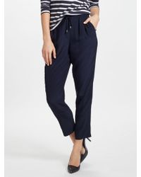 John Lewis - Crepe Soft Tailored Joggers - Lyst