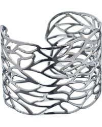 John Lewis - Cut Out Leaf Cuff - Lyst
