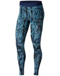 Nike - Pro Hypercool Marble Print Training Tights - Lyst
