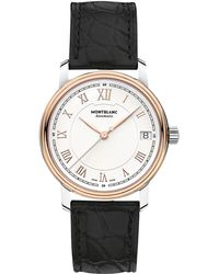 Montblanc - 114368 Women's Tradition Date Automatic Alligator Leather Strap Watch - Lyst