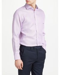 John Lewis - Non Iron Semi Plain Tailored Fit Shirt - Lyst